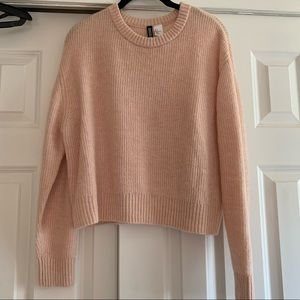 H&M Pale Pink Knit Sweater